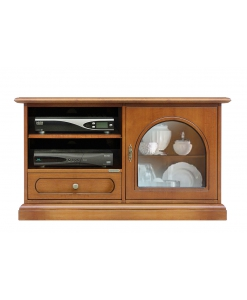 meuble tv 1 porte, meuble tv, meuble tv classique, petit meuble tv