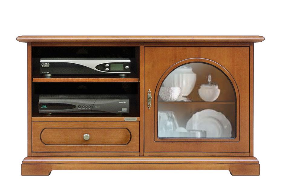 Meuble tv 1 porte 1 tiroir et tag res lamaisonplus for Meuble porte secrete