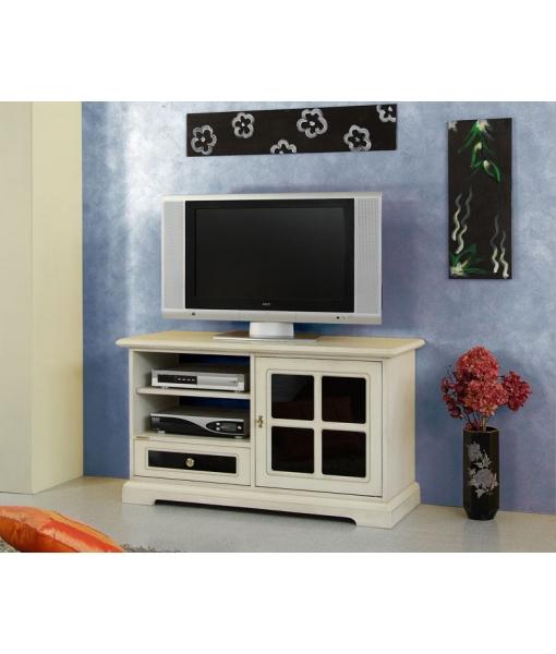 Meuble tv midi avec reflex noir lamaisonplus for Meuble avec cachette