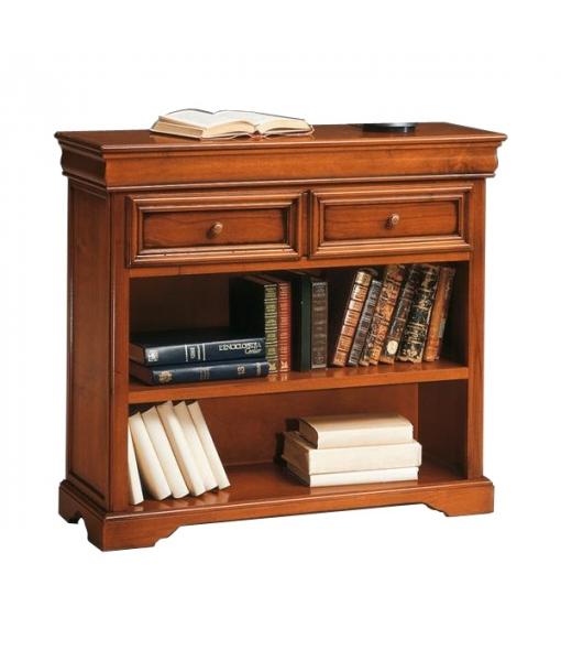 biblioth que basse louis philippe lamaisonplus. Black Bedroom Furniture Sets. Home Design Ideas
