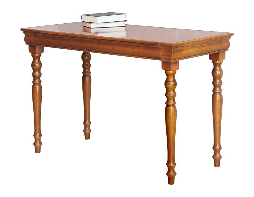 Bureau classique en bois teinte merisier bureau pour ordinateur
