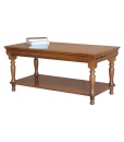 table basse de style Louis Philippe, table de salon, table basse merisier