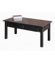 Table de salon rectangulaire, table basse noire