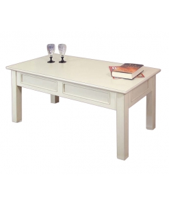 Table basse rectangulaire en bois