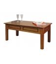 Table de salon rectangulaire, table basse, table de salon merisier