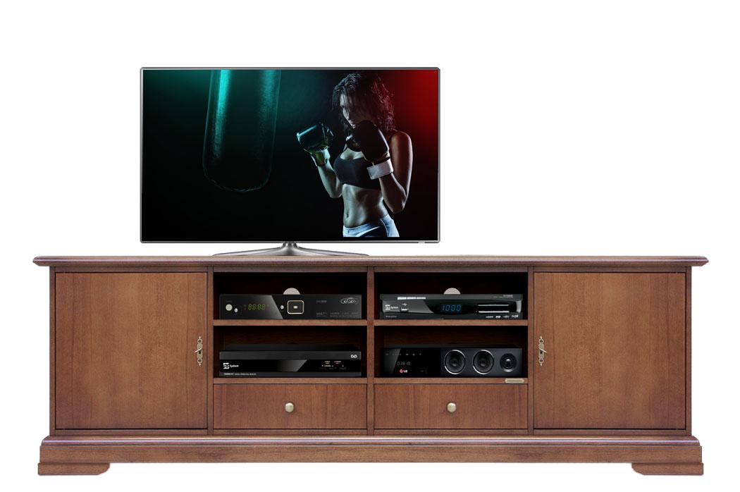 Meuble tv simply largeur 200 cm lamaisonplus for Meuble tv 200 cm