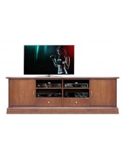 meuble tv , meuble tv classique, meuble tv en bois, ameublement pour le salon
