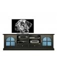 meuble tv laqué noir, meuble tv, meuble tv classique, ameublement pour le salon