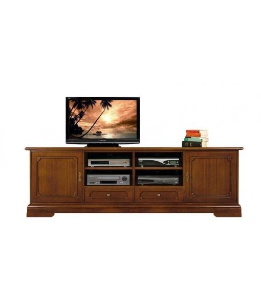 Meuble tv lcd en bois 2 m tres largeur lamaisonplus for Meuble tv 2 metres