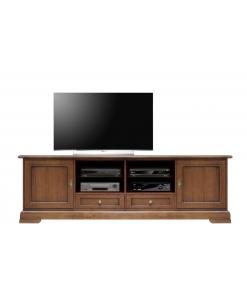 meuble tv pour salon, meuble tv en bois, meuble tv classique