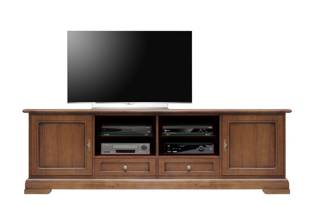 meuble tv pour salon 200 cm largeur lamaisonplus. Black Bedroom Furniture Sets. Home Design Ideas