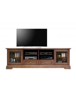 meuble tv, meuble tv avec vitrine, meuble tv classique, ameublement classique pour le salon