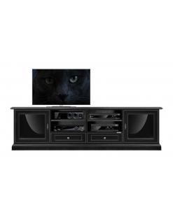 meuble tv design, meuble tv noir, meuble tv laqué, meuble tv pour le salon, ameublement de style pour le salon