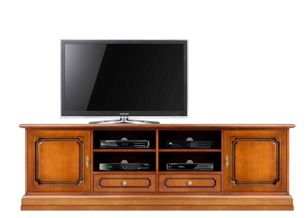 Meuble base tv pour salon 2 m tres lamaisonplus for Meuble tv 2 metres