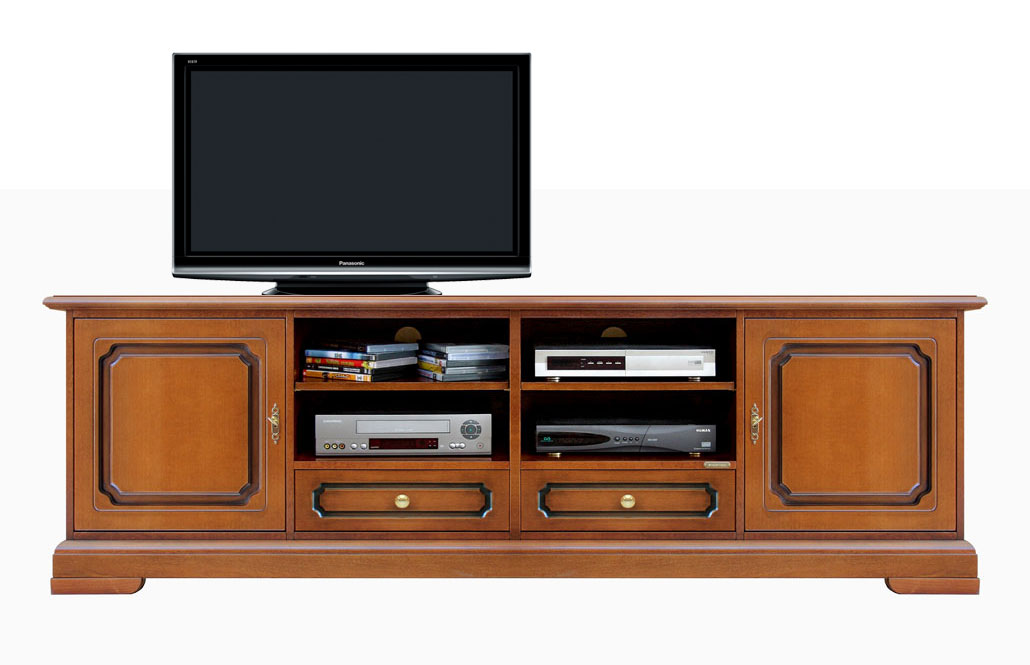 Meuble base tv pour salon 2 m tres lamaisonplus for Meuble tv 3 metres