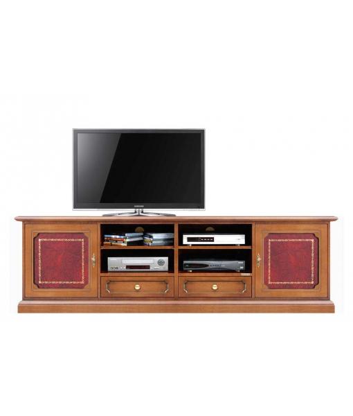 meuble tv 2m largeur avec v ritable cuir lamaisonplus. Black Bedroom Furniture Sets. Home Design Ideas
