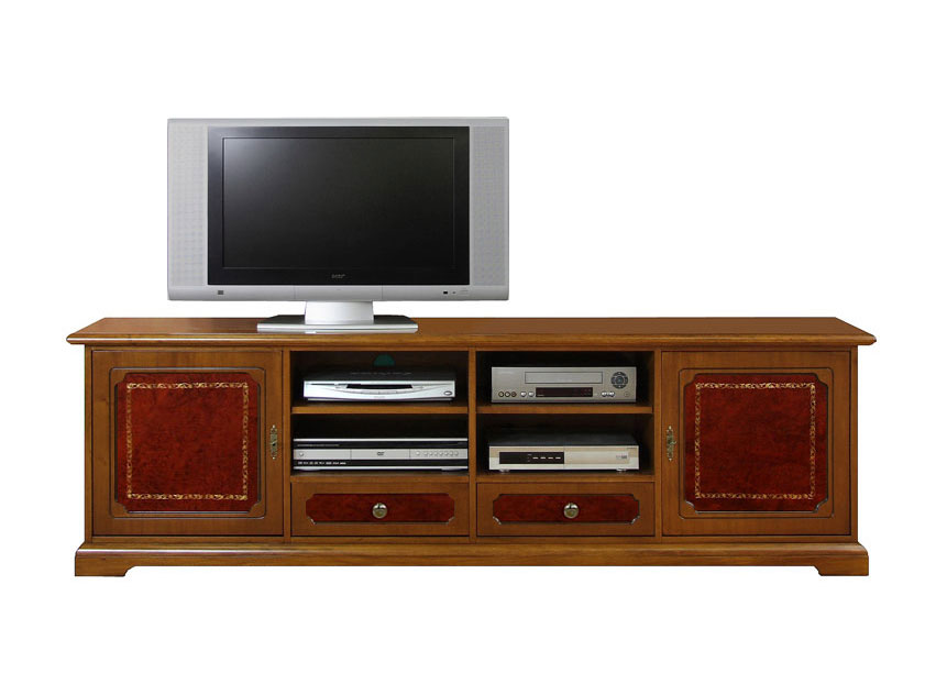 meuble tv 2m largeur avec v ritable cuir lamaisonplus. Black Bedroom Furniture Sets. Home Design Ideas