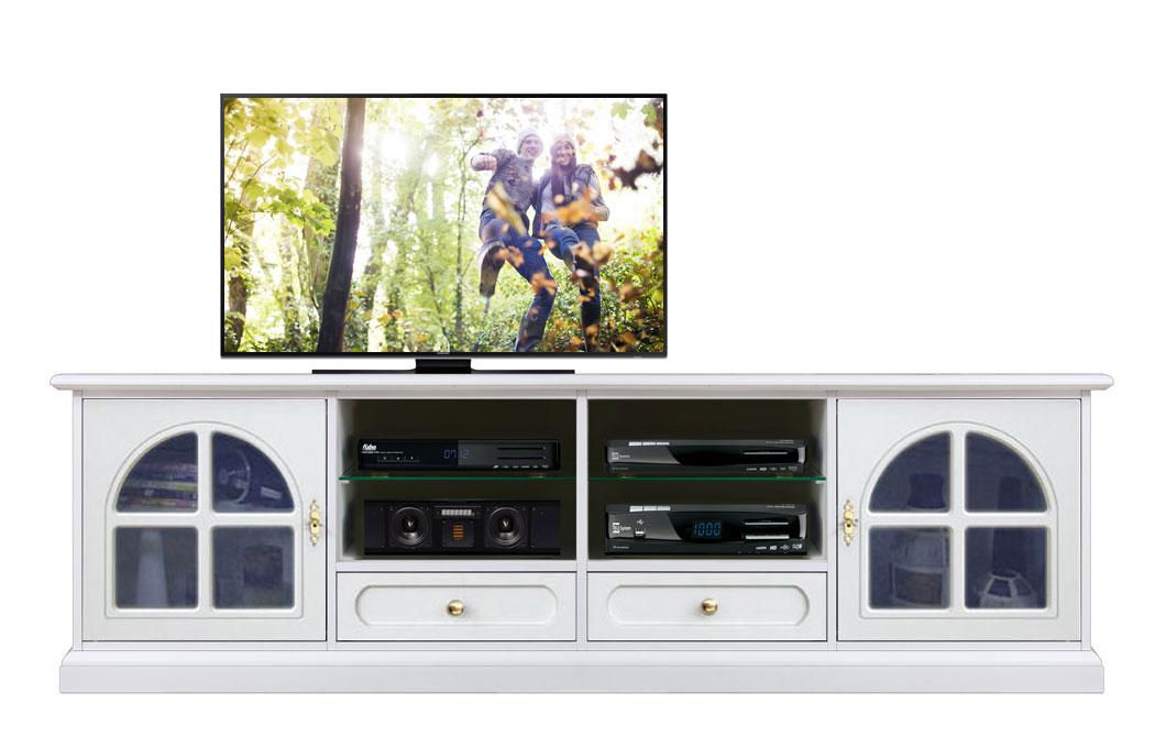 Meuble tv classique 2 portes et tag res lamaisonplus for Meuble classique