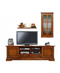 composition mur tv, ameublement pour le salon, ameublement de style classique