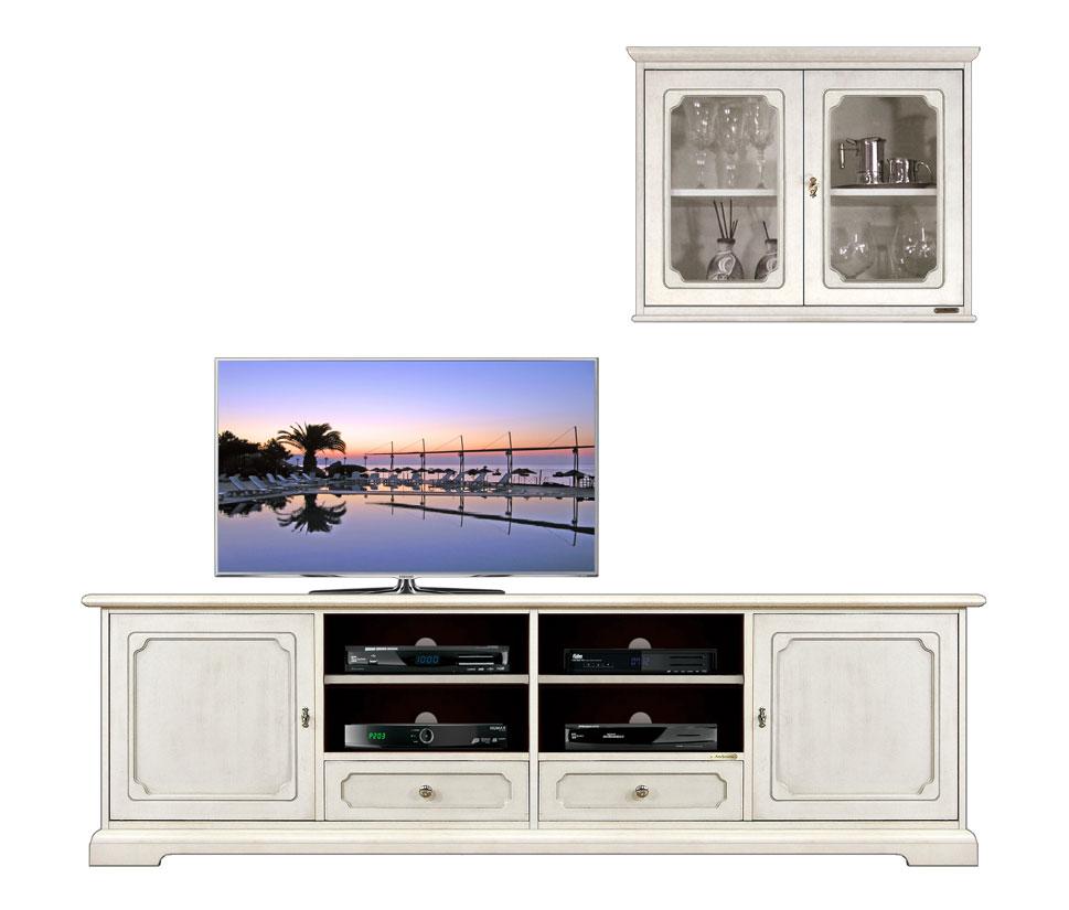 ensemble meuble tv mural banc tv et vitrine lamaisonplus. Black Bedroom Furniture Sets. Home Design Ideas