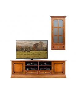 composition meubles tv, meuble tv, vitrine, ameublement pour le salon, ameublement classique