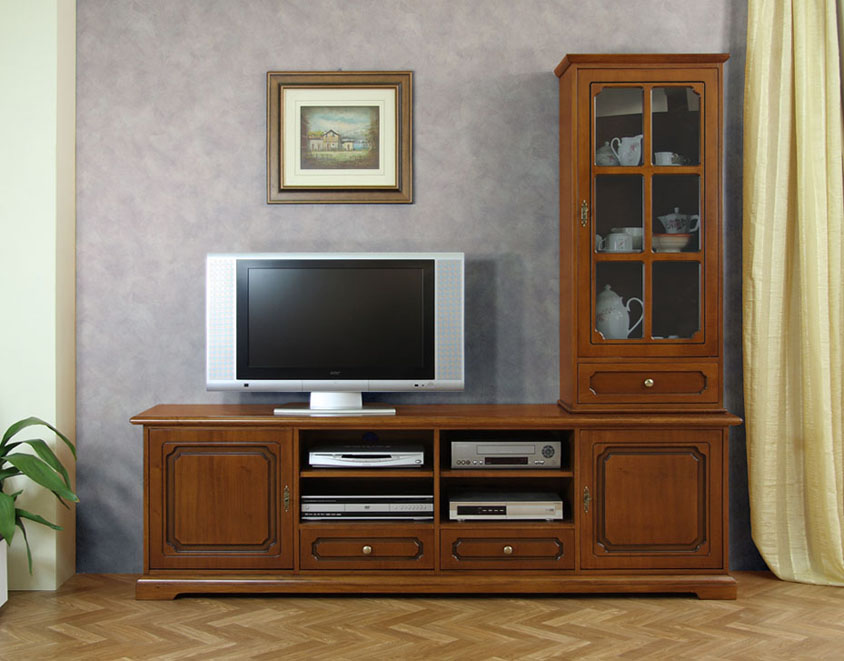 composition meubles tv meuble tv et vitrine meubles de style pour le salon ebay. Black Bedroom Furniture Sets. Home Design Ideas