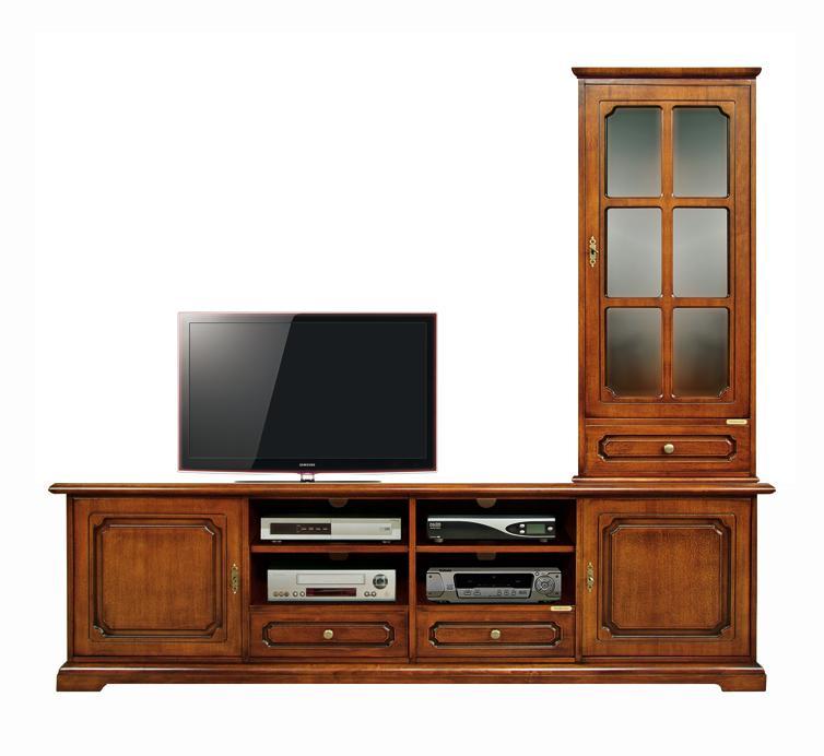 Composition meubles tv meuble tv et vitrine meubles de for Meuble tv vitrine