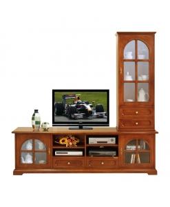 meuble tv et vitrine, meuble tv, ameublement de style, meubles en bois, meubles classiques