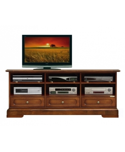 Banc Tv bas en bois 3 tiroirs Arteferretto
