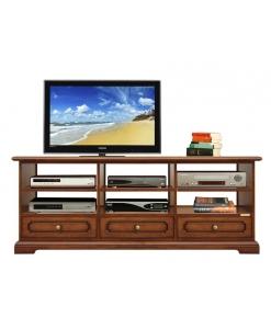 meuble tv, meuble tv en bois, ameublement de style, ameublement classique