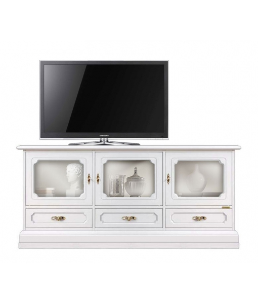 meuble tv vitrine 3 portes coll vicenza lamaisonplus. Black Bedroom Furniture Sets. Home Design Ideas
