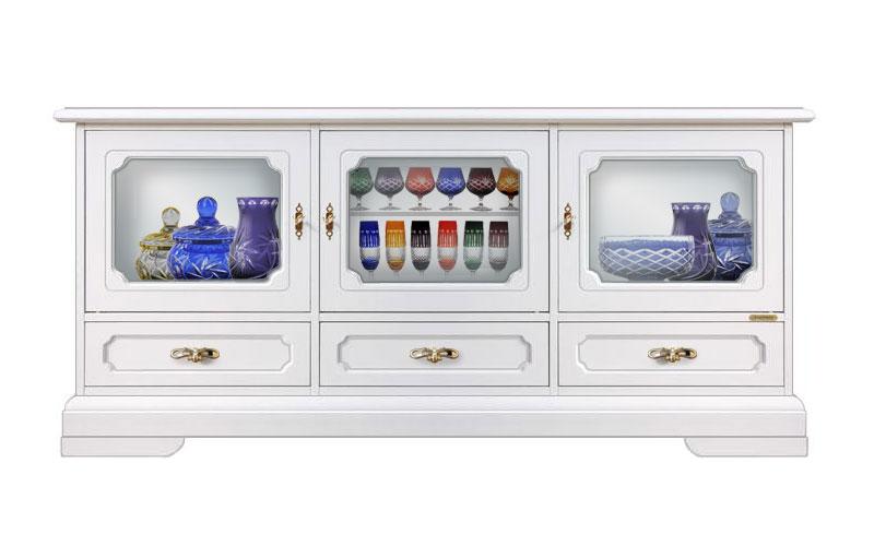meuble tv vitrine 3 portes coll vicenza lamaisonplus. Black Bedroom Furniture Sets. Home Design Ideas