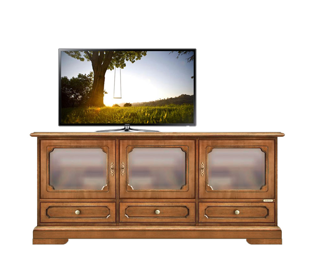 meuble buffet tv portes vitr es lamaisonplus. Black Bedroom Furniture Sets. Home Design Ideas