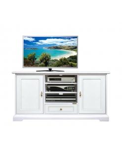 meuble tv classique, meuble tv laqué, meuble tv de style, ameublement pour le salon, meuble tv avec 2 portes