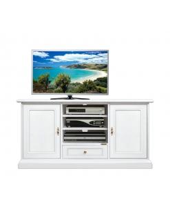 Meuble TV laqué 130 cm 4040-QPAV