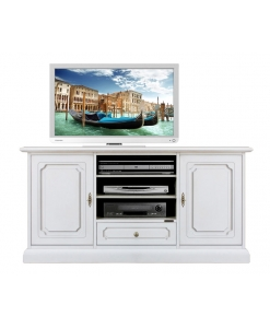 meuble tv classique largeur 130 cm 2 portes lamaisonplus. Black Bedroom Furniture Sets. Home Design Ideas
