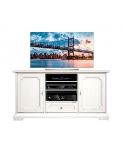 Meuble Tv classique largeur 130 cm 2 portes