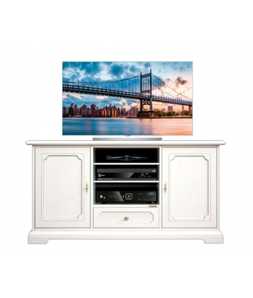 Meuble Tv classique largeur 130 cm 2 portes, RÉF : 4040-SPAV