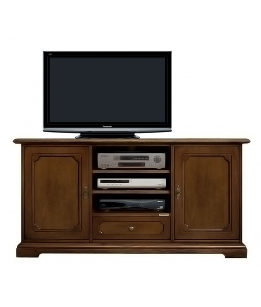 Meuble tv 2 portes 1 tiroir lamaisonplus for Meuble 2 portes 2 tiroirs