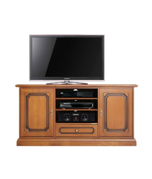 meuble tv classique 130 cm largeur 2 portes lamaisonplus. Black Bedroom Furniture Sets. Home Design Ideas