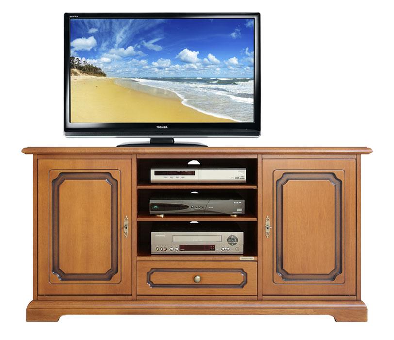 Meuble tv classique 130 cm largeur 2 portes lamaisonplus - Meuble tv classique ...