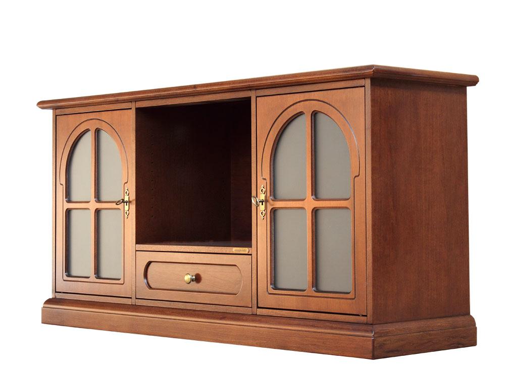 Meuble tv avec portes arrondies lamaisonplus for Meuble avec cachette