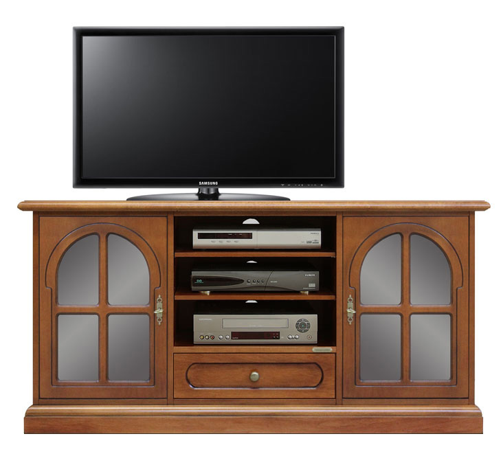 meuble tv avec portes arrondies lamaisonplus. Black Bedroom Furniture Sets. Home Design Ideas