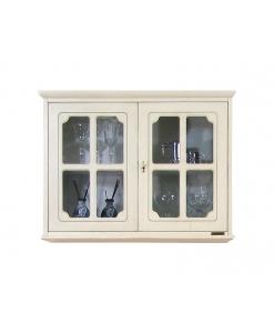 vitrine murale, vitrine avec 2 portes, vitrine classique, vitrine murale pour la cuisine, ameublement classique
