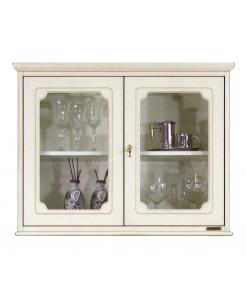 vitrine murale, vitrine, meuble suspendu, ameublement classique, vitrine laquée