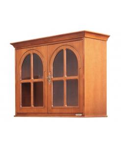 Petite vitrine murale 2 portes rondes, vitrine suspendue, vitrine murale, petite vitrine murale