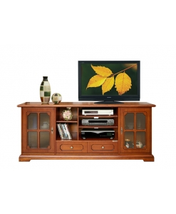 Meuble Tv Hi-fi LCD classique 2 portes vitrées Arteferretto