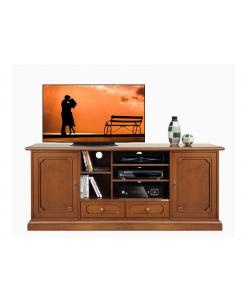 Meuble Tv Hi-fi en bois 160 cm largeur Arteferretto
