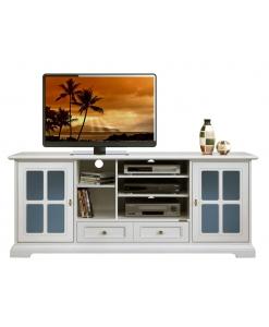 meuble tv 2 portes, meuble tv laqué, meuble tv de style, meuble pour le salon, ameublement classique