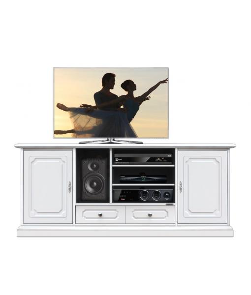 Meuble Tv Hifi laqué 2 portes Arteferretto, Réf. 4070-SAV